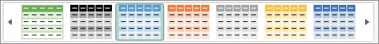 Anwenden von Schattierung oder Hervorhebung auf alternative Zeilen in Excel für Mac 555d7b22-f627-4a46-a5e7-435596a6fab8.png