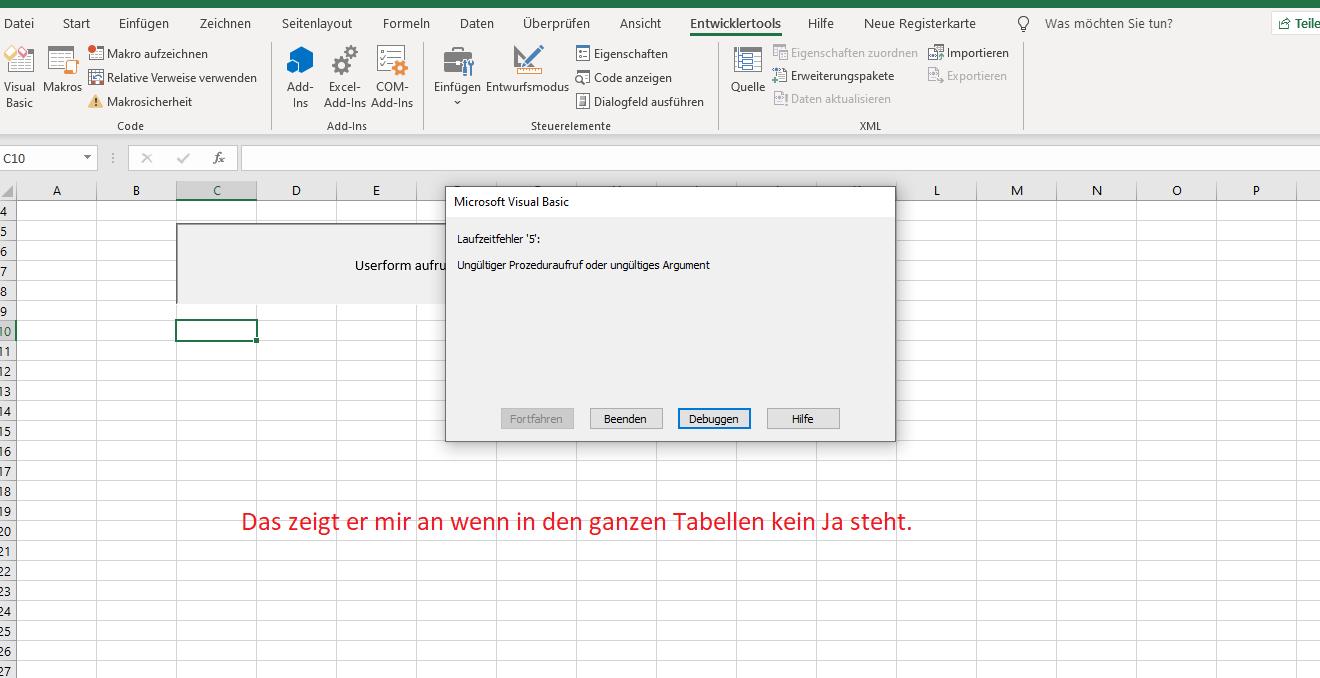 Werte anzeigen ,ändern und einfügen in einer Userform Fehler1.png